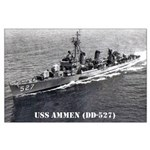 USS AMMEN Large Poster