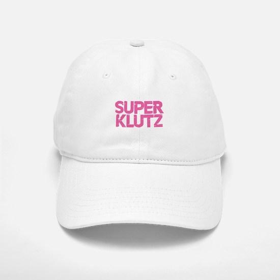 Super Klutz - Pink Baseball Baseball Cap