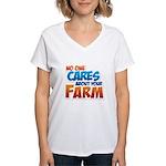 No One Cares Women's V-Neck T-Shirt
