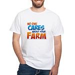 No One Cares White T-Shirt