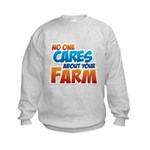 No One Cares Kids Sweatshirt