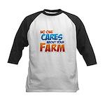 No One Cares Kids Baseball Jersey
