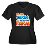 No One Cares Women's Plus Size V-Neck Dark T-Shirt