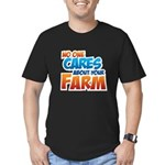 No One Cares Men's Fitted T-Shirt (dark)