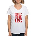 Sweep The Leg Women's V-Neck T-Shirt