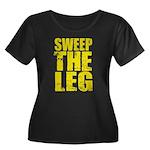Sweep The Leg Women's Plus Size Scoop Neck Dark T-