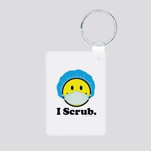 I Scrub Surgical Tech Aluminum Photo Keychain