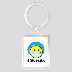 I Scrub Surgical Tech Portrait Keychain
