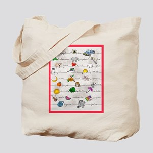 Illustrated Alphabet Tote Bag