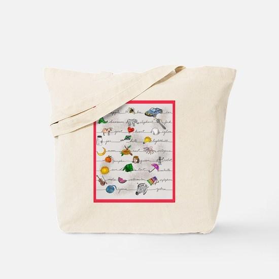 Illustrated Alphabet Tote Bag