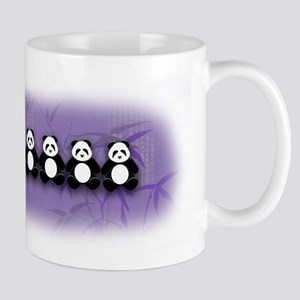 Line of Pandas Mug