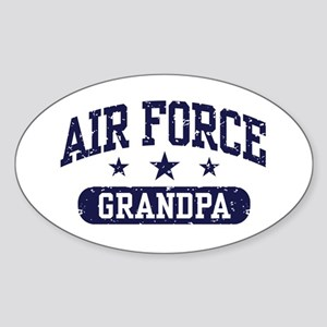 Air Force Grandpa Sticker (Oval)