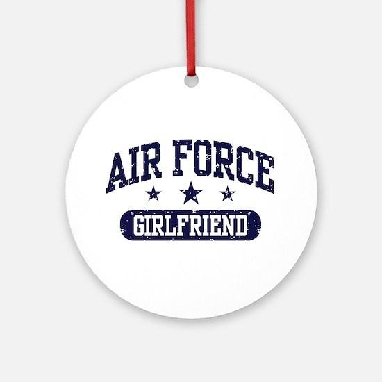 Air Force Girlfriend Ornament (Round)