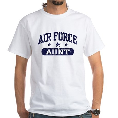 Air Force Aunt White T-Shirt