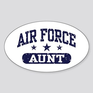 Air Force Aunt Sticker (Oval)