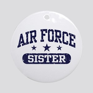 Air Force Sister Ornament (Round)