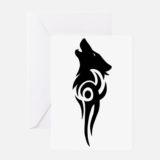 Cute Howling wolf Greeting Card