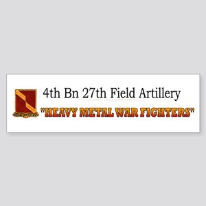 4th Bn 27th FA Sticker (Bumper)
