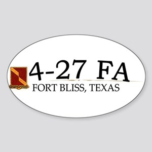 4th Bn 27th FA Sticker (Oval)