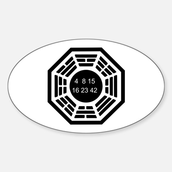 Dharma Logo Solo Sticker (Oval)