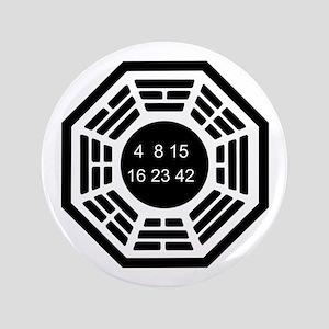 """Dharma Logo Solo 3.5"""" Button"""