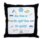 Agility Time Throw Pillow