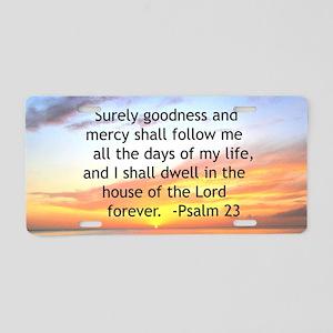 23RD PSALM Aluminum License Plate