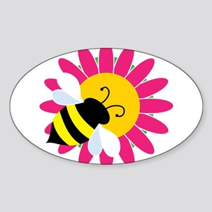 Bumble Bee on Flower Sticker