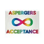 Aspergers Acceptance Magnets (10 pack)