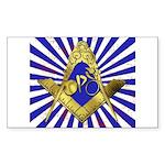 Freemason Cycling Club Sticker (Rectangle 10 pk)