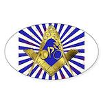 Freemason Cycling Club Sticker (Oval)