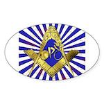 Freemason Cycling Club Sticker (Oval 10 pk)