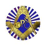 "Freemason Cycling Club 3.5"" Button (100 pack)"