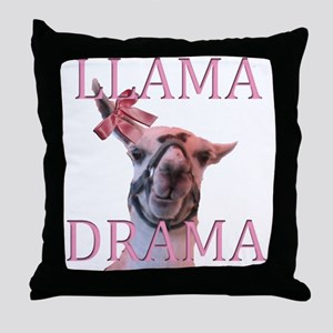 LLAMA DRAMA Throw Pillow