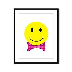 Happy Face Framed Panel Print