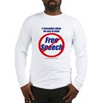 FREE SPEECH Long Sleeve T-Shirt