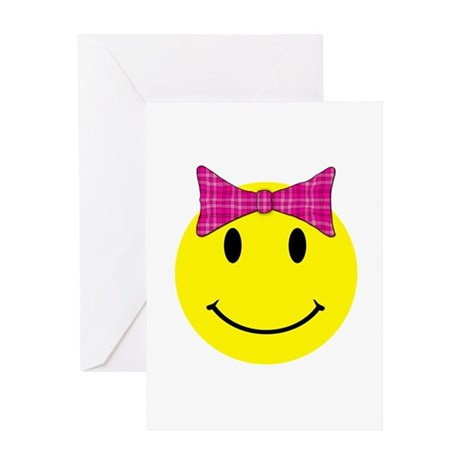 Happy Face Girl Greeting Card