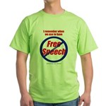 FREE SPEECH2-sided Green T-Shirt