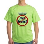 FREE SPEECH Green T-Shirt