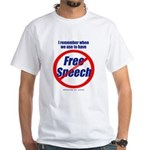 FREE SPEECH White T-Shirt