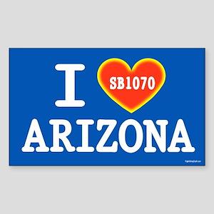 I Heart Arizona Sticker (Rectangle)