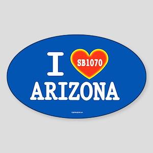 I Heart Arizona Sticker (Oval)