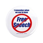 "FREE SPEECH 3.5"" Button (100 pack)"