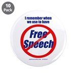 "FREE SPEECH 3.5"" Button (10 pack)"