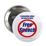 "FREE SPEECH 2.25"" Button (10 pack)"