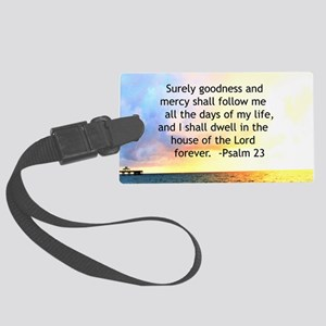23RD PSALM Large Luggage Tag