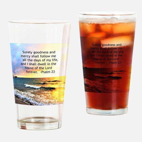 23RD PSALM Drinking Glass