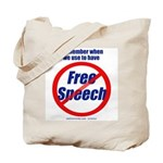FREE SPEECH 2-sided Tote Bag