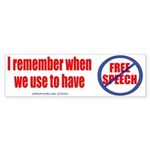 FREE SPEECH Sticker (Bumper Sticker 50 pk)