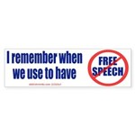 FREE SPEECH Sticker (Bumper Sticker 10 pk)